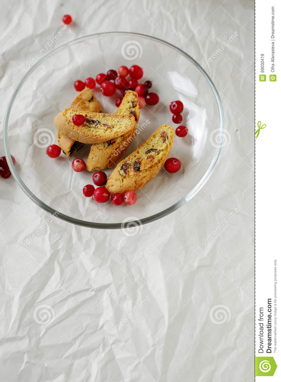 Cranberry Italian Christmas Cookies Stock Image - Image of cookie ...