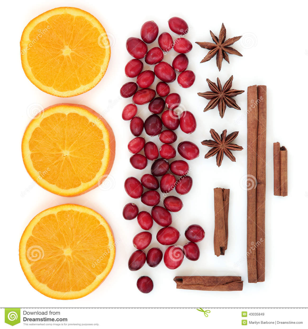 Cranberry orange and spices stock photo image 43035849 for Spiced cranberry sauce with orange and star anise