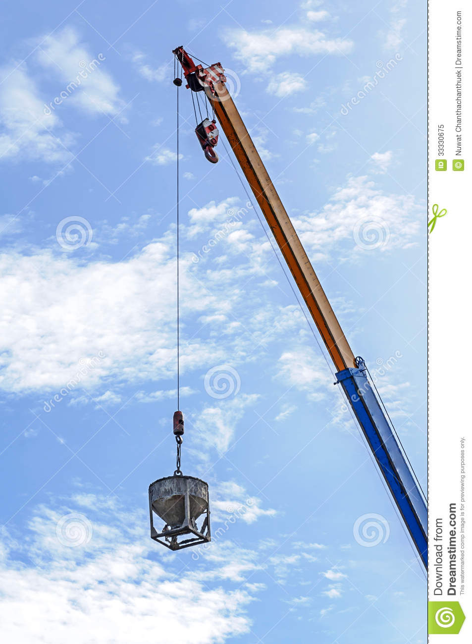 Crane Hoist Concrete Bucket Royalty Free Stock Photo