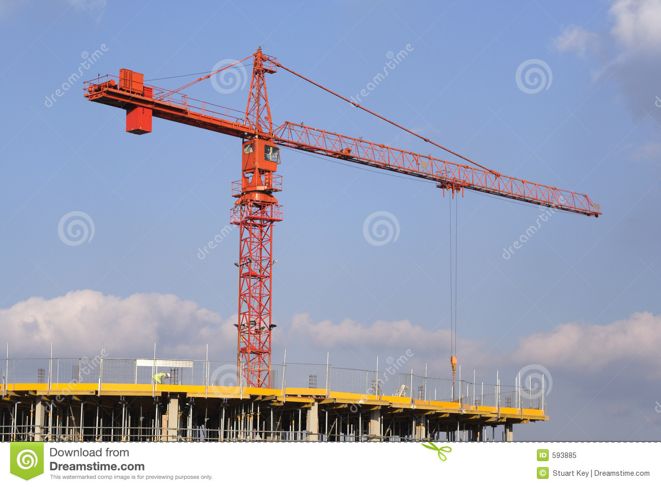 Crane over building site stock image image of sites site for Images of building sites