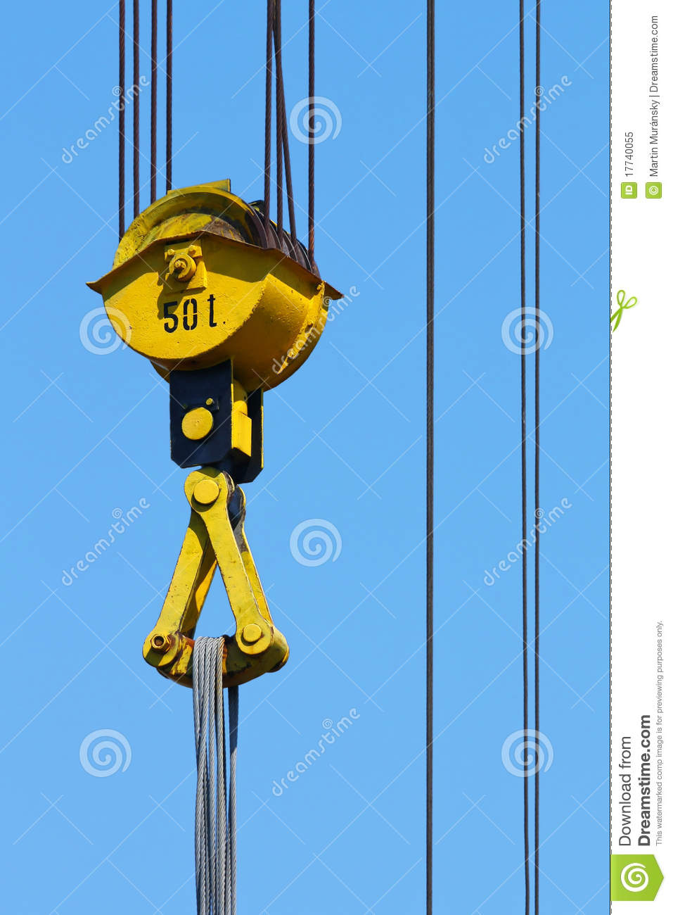 Pulleys In Cranes : Crane pulley royalty free stock photo image