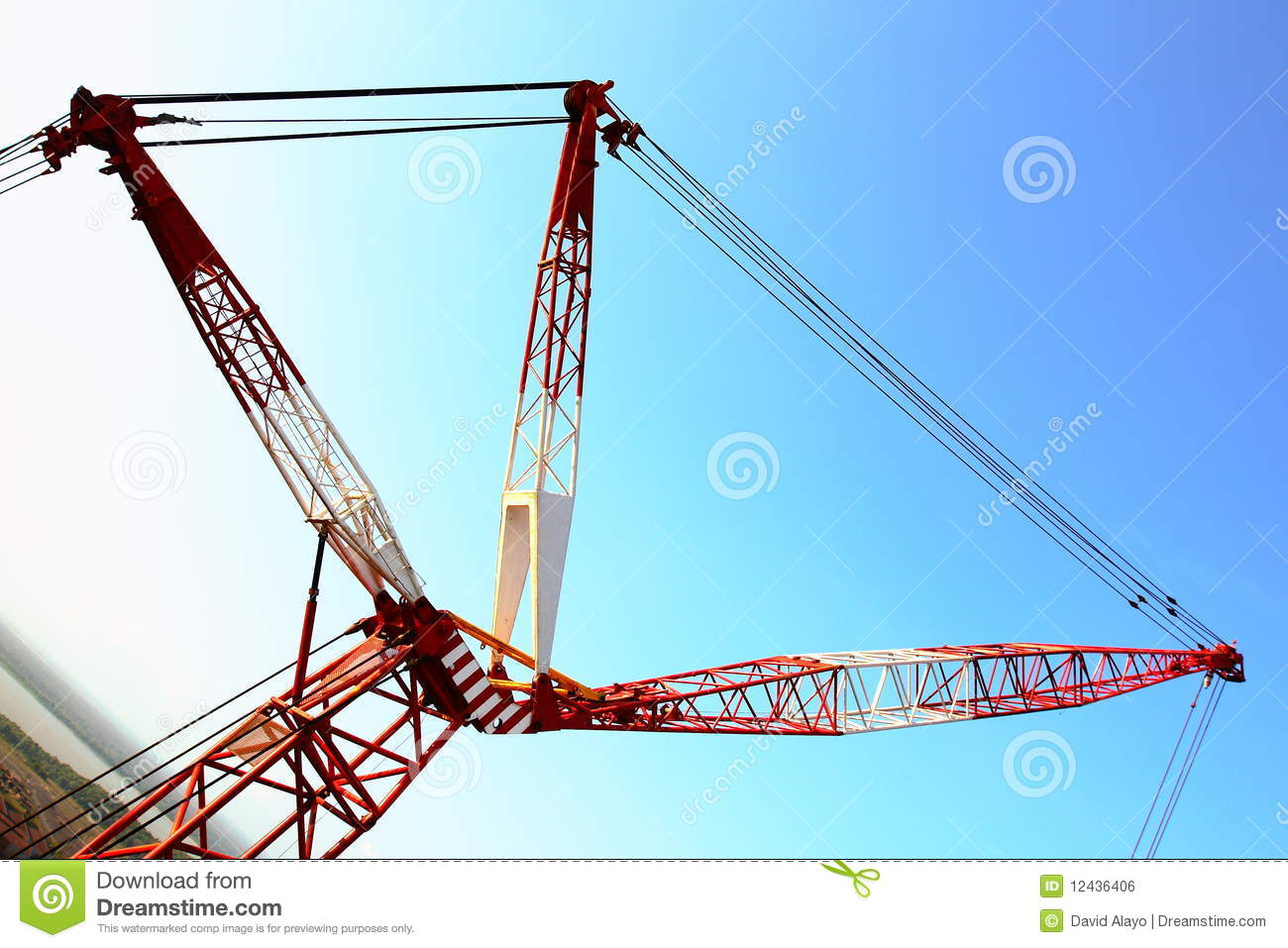 Pulleys In Cranes : Crane pulleys royalty free stock image