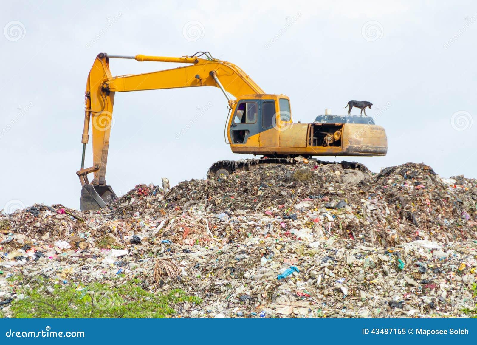 garbage compactor truck vector cartoon vector