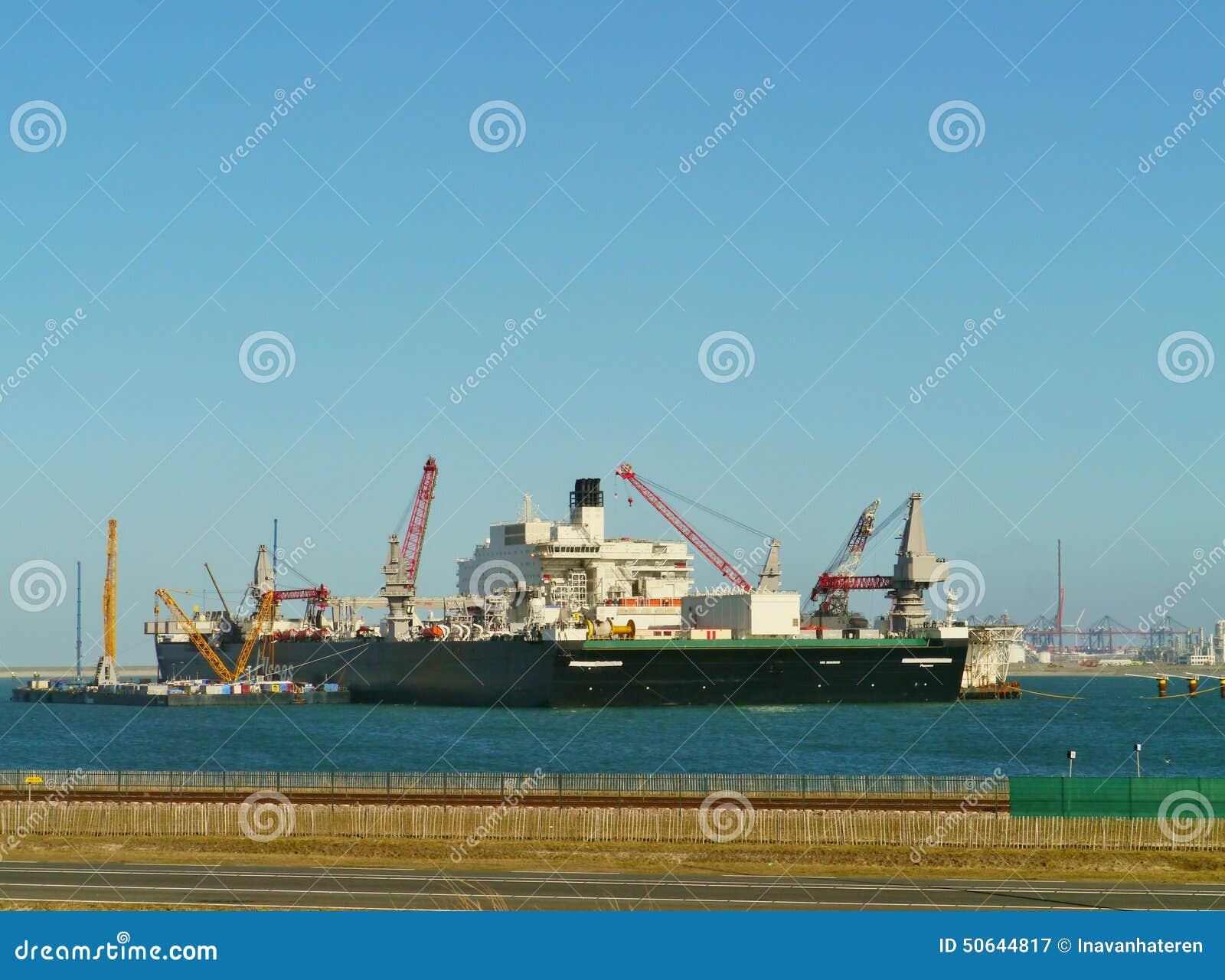Crane Ship Pioneering Spirit In The Netherlands Editorial