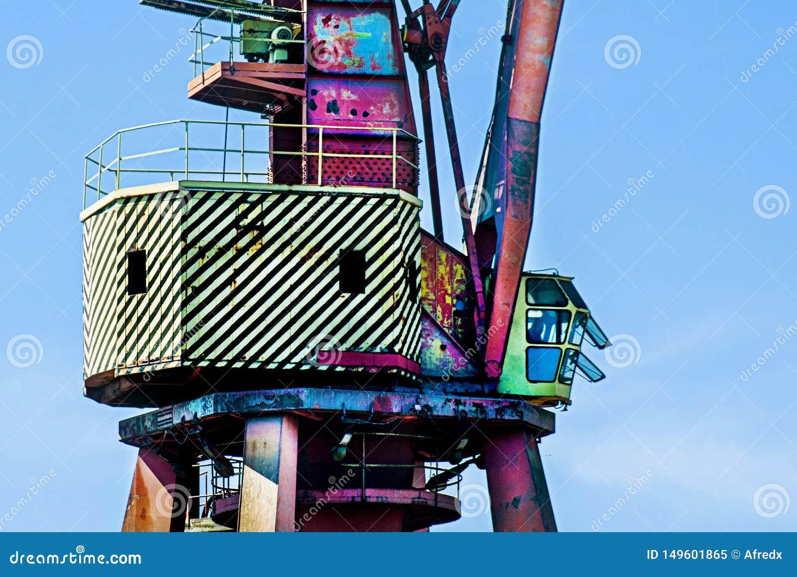 Crane in the shipyard
