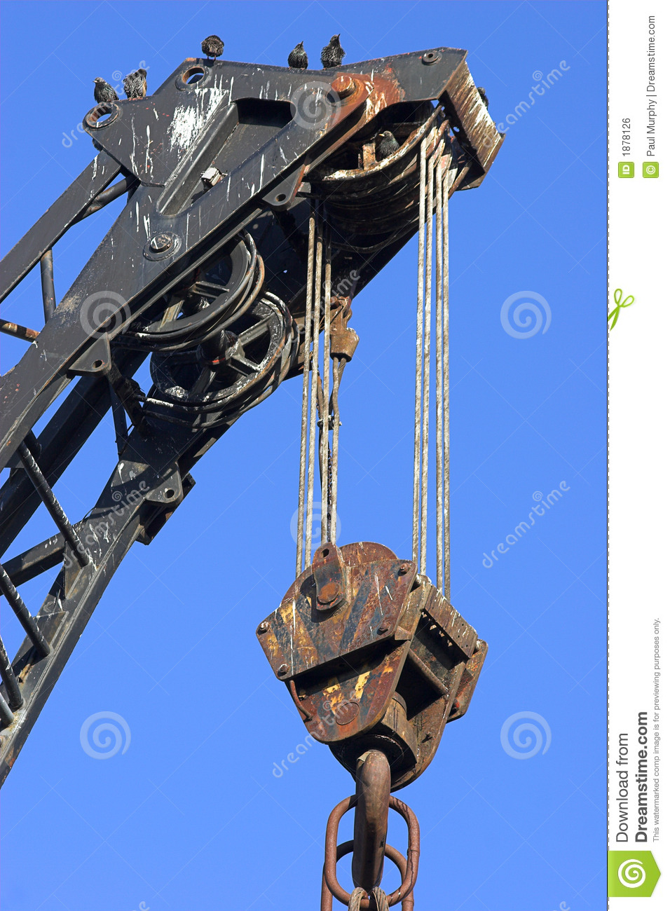 Workers On Wheels >> Crane, Tackle 1 Royalty Free Stock Image - Image: 1878126
