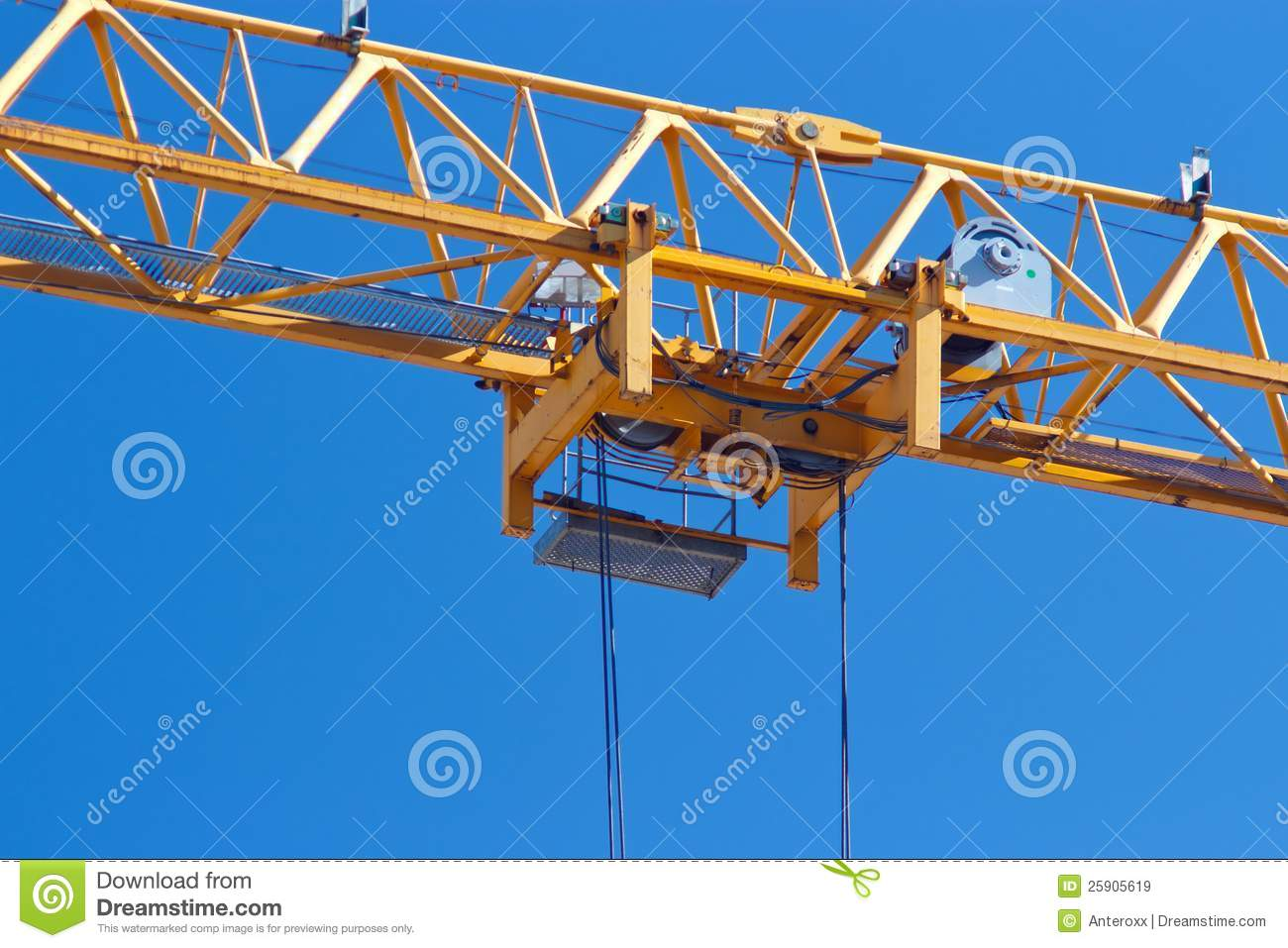 Crane trolley stock image  Image of blue, industrial - 25905619