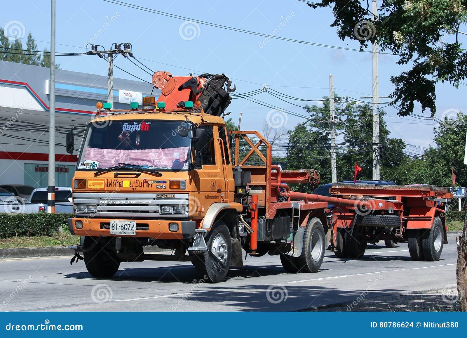 Crane Truck da autoridade provincial do eletricity de Thailands
