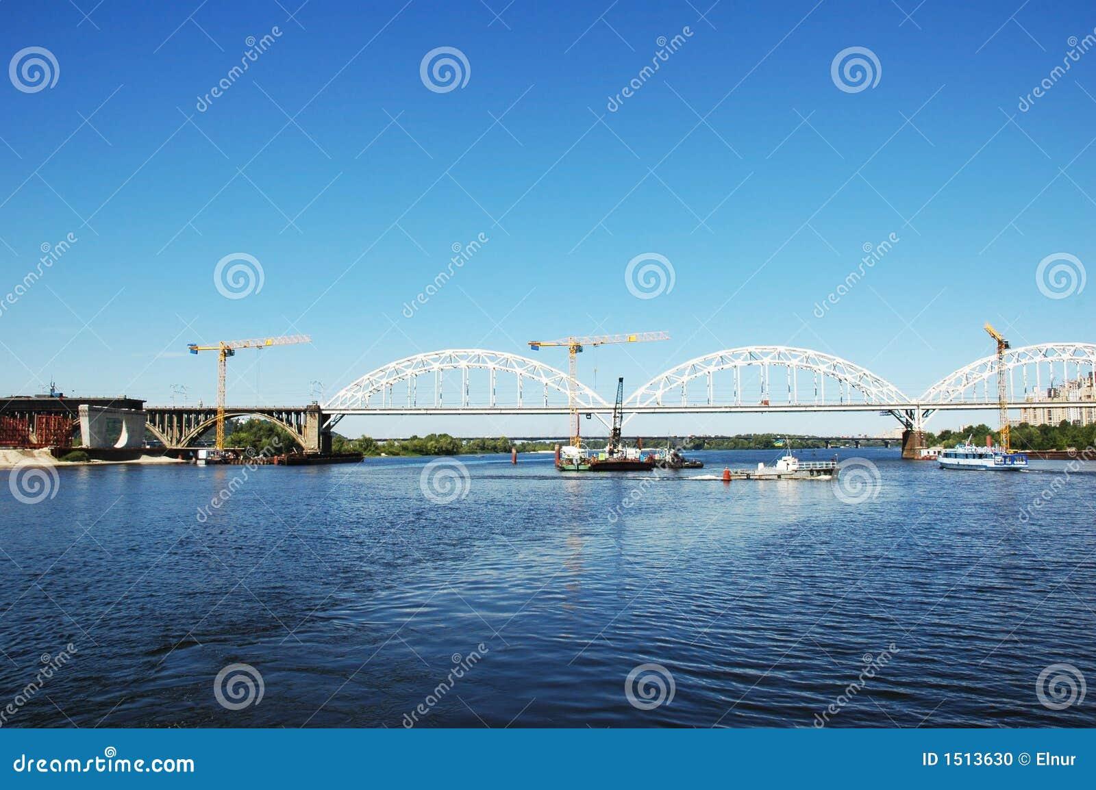 Cranes and bridge