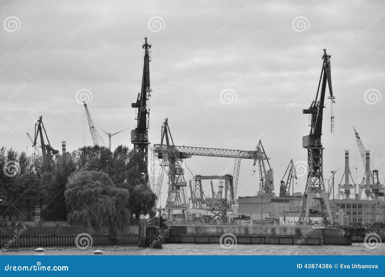 Cranes at Hamburg port