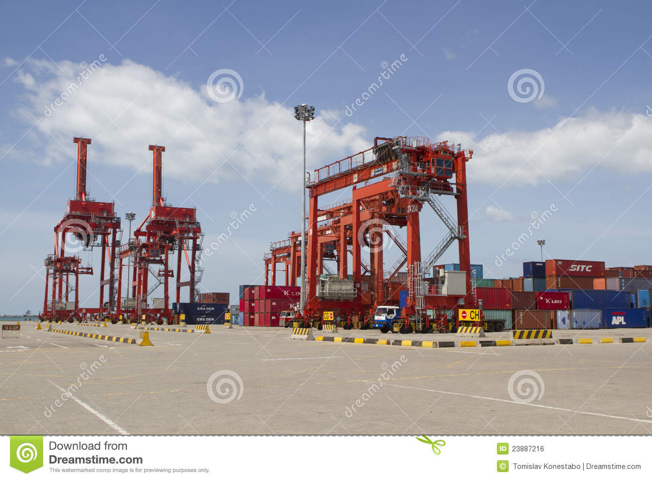 Cranes In The Port Of Sihanoukville, Cambodia Editorial