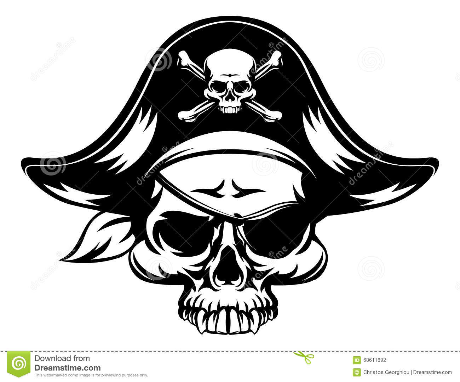 Cranio diabolico del pirata