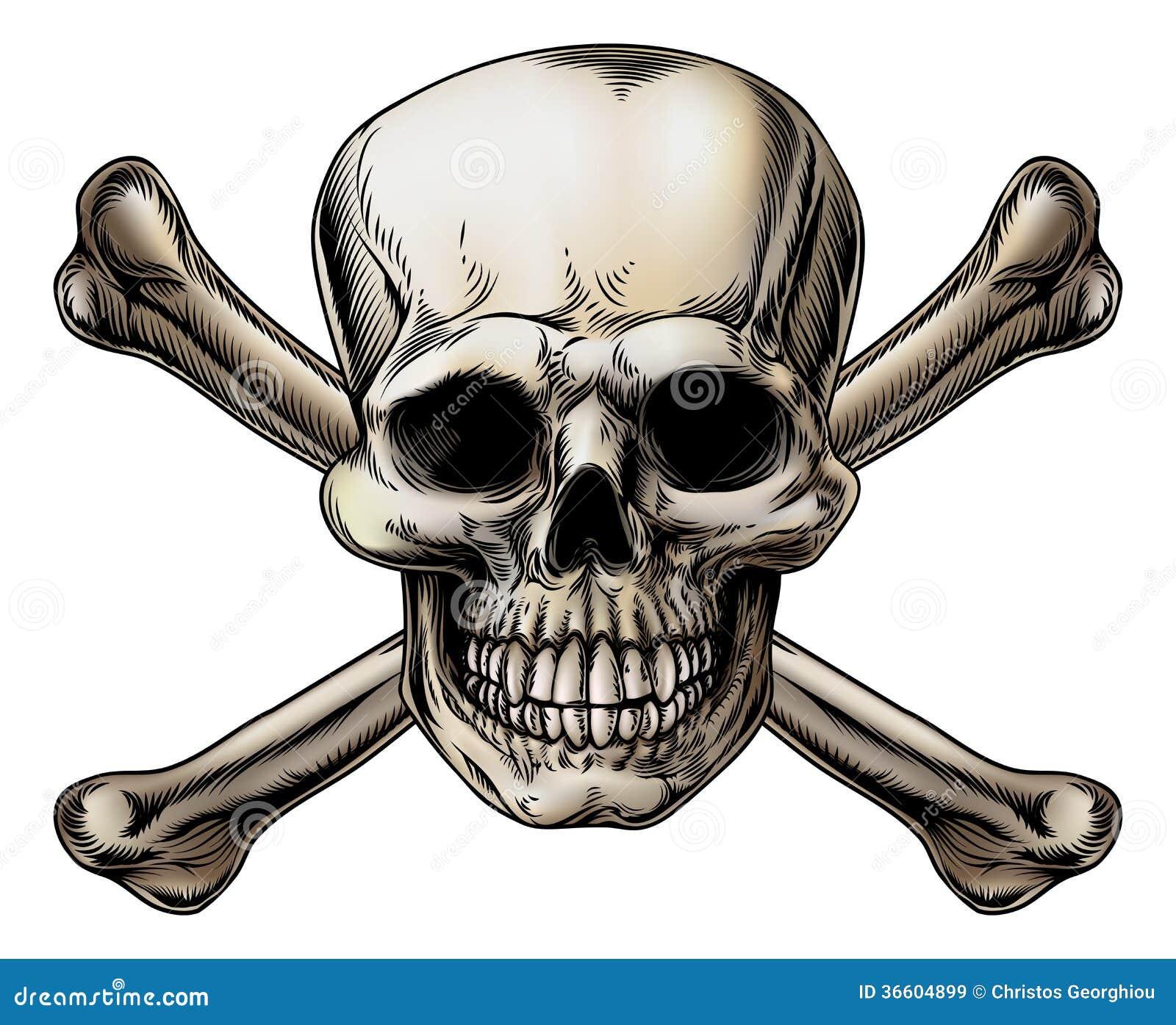 Cranio ed icona di tibie incrociate