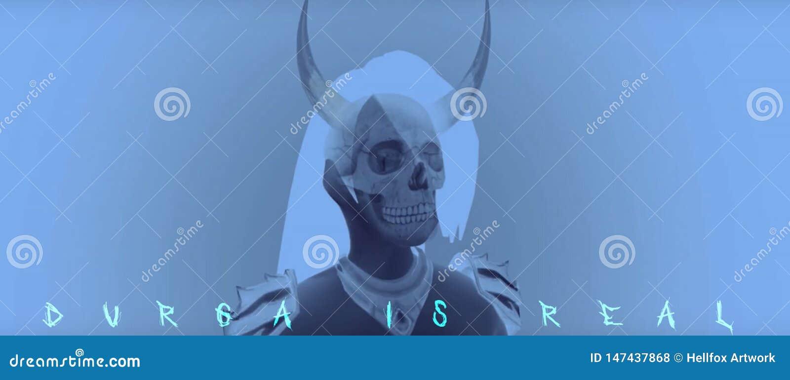 Cranio scuro Durga Kahli BadGirl Horn