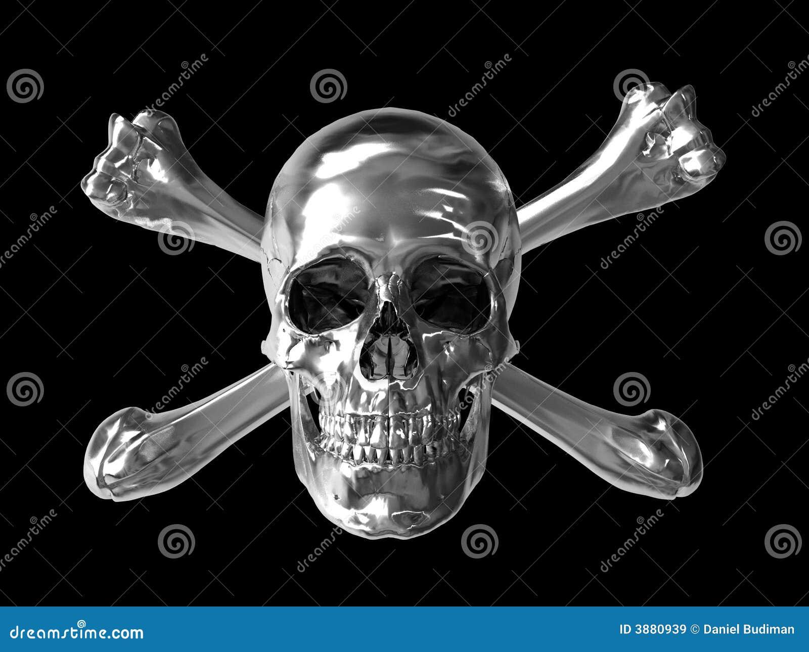 Cranio tossico del bicromato di potassio di simbolo