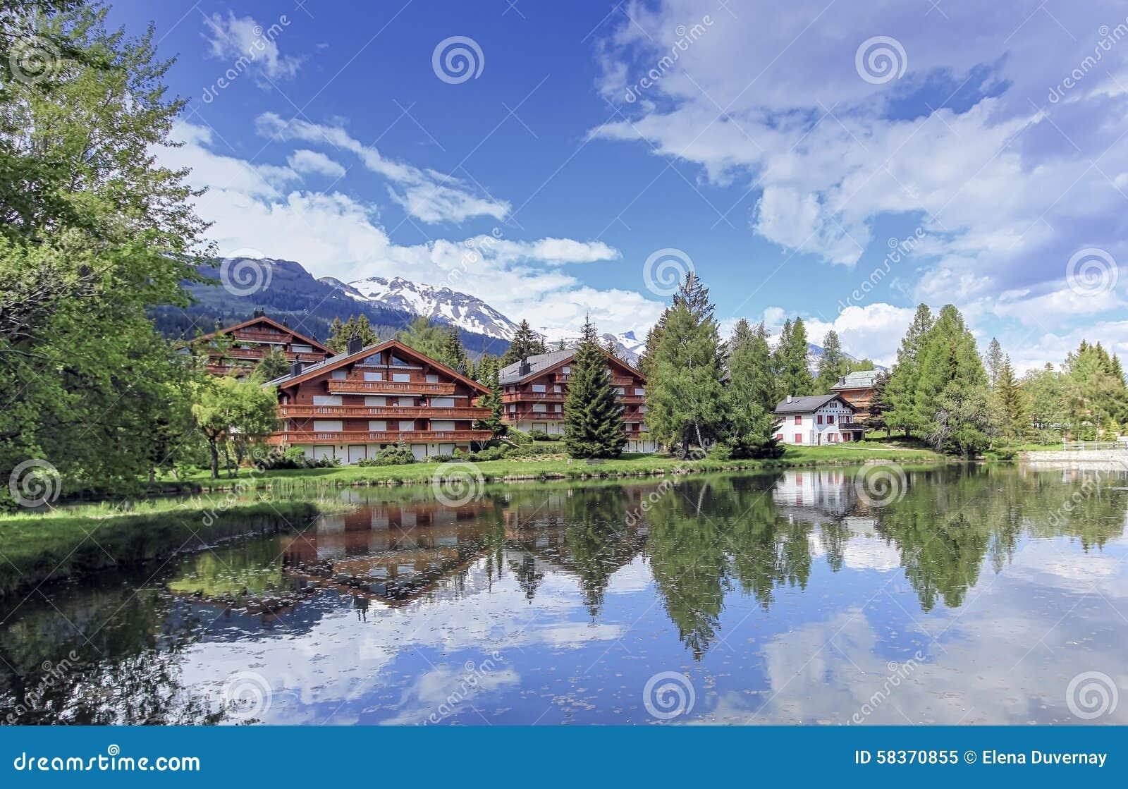 Crans-Montana, Wallis, die Schweiz