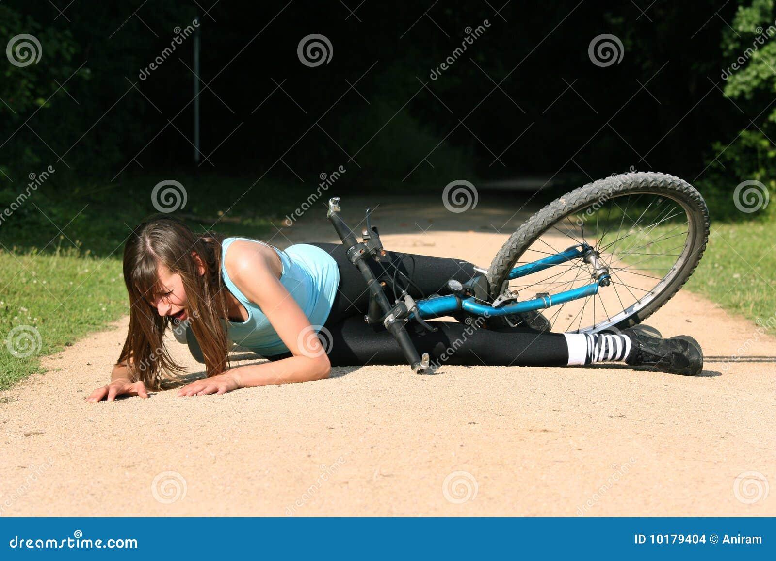 Crash With Bike Stock Images Image 10179404