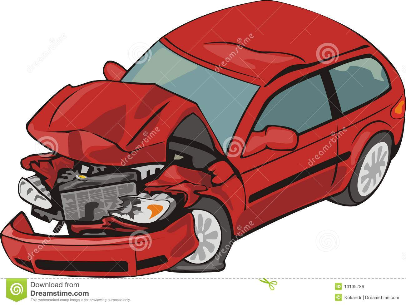 Cartoon Pictures Of Crashed Cars