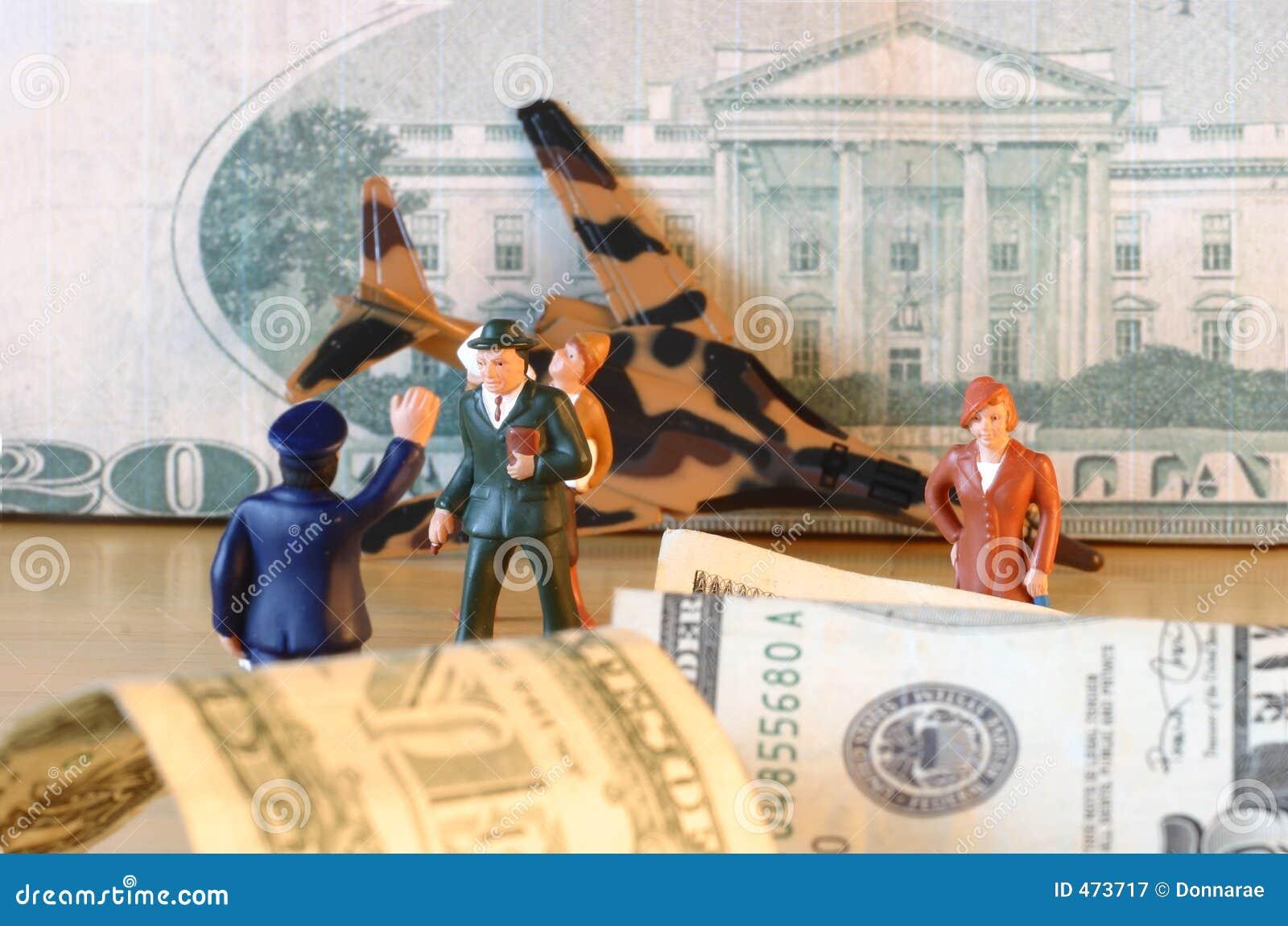 Crash, dollars, finance, confusion & loss