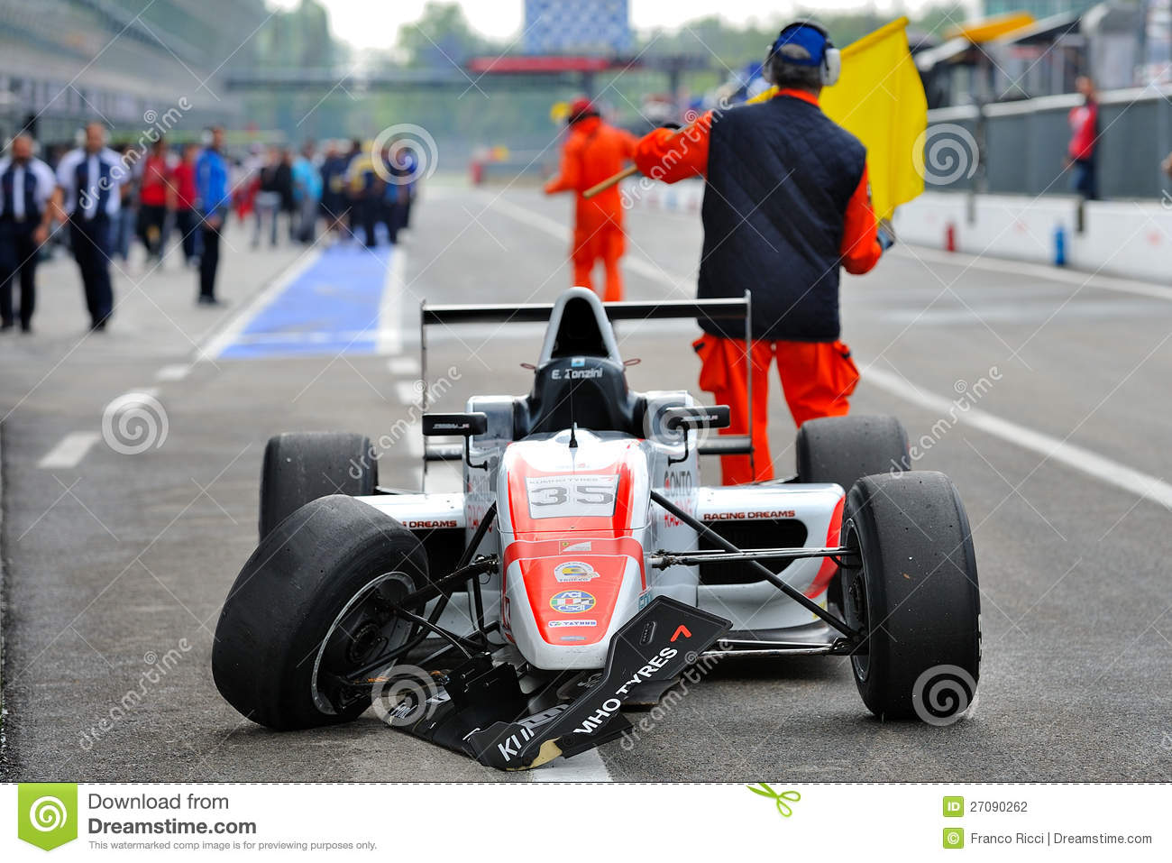 Crash In Formula Abarth In Monza Race Track Editorial