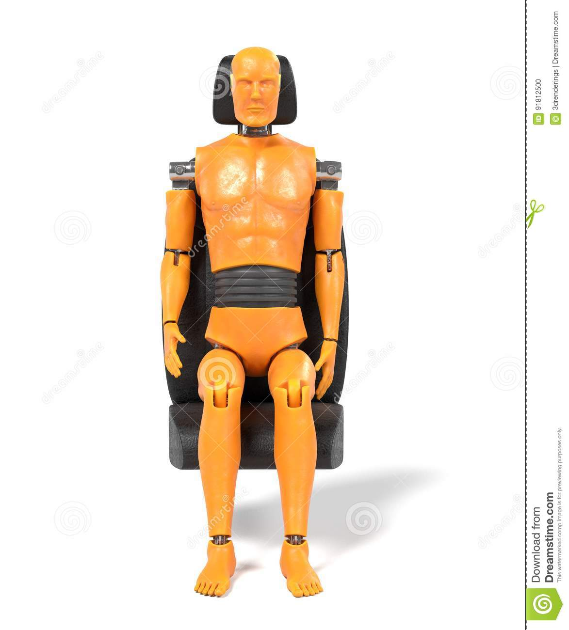 49c8f7985377 Crash test dummy stock illustration. Illustration of mannequin ...