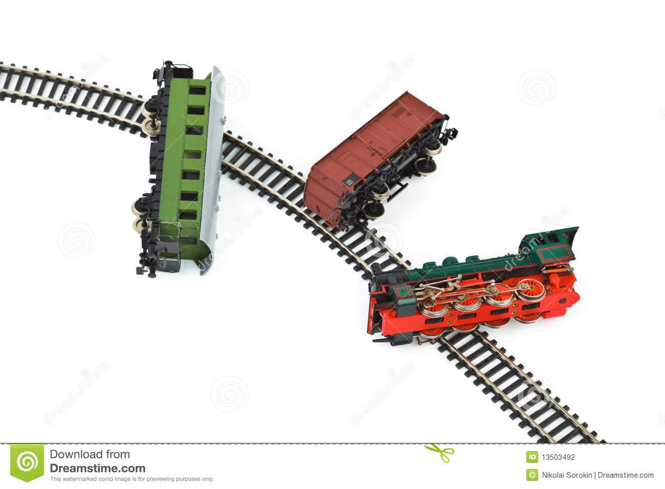 Crash Toy Train Stock Photography - Image: 13503492
