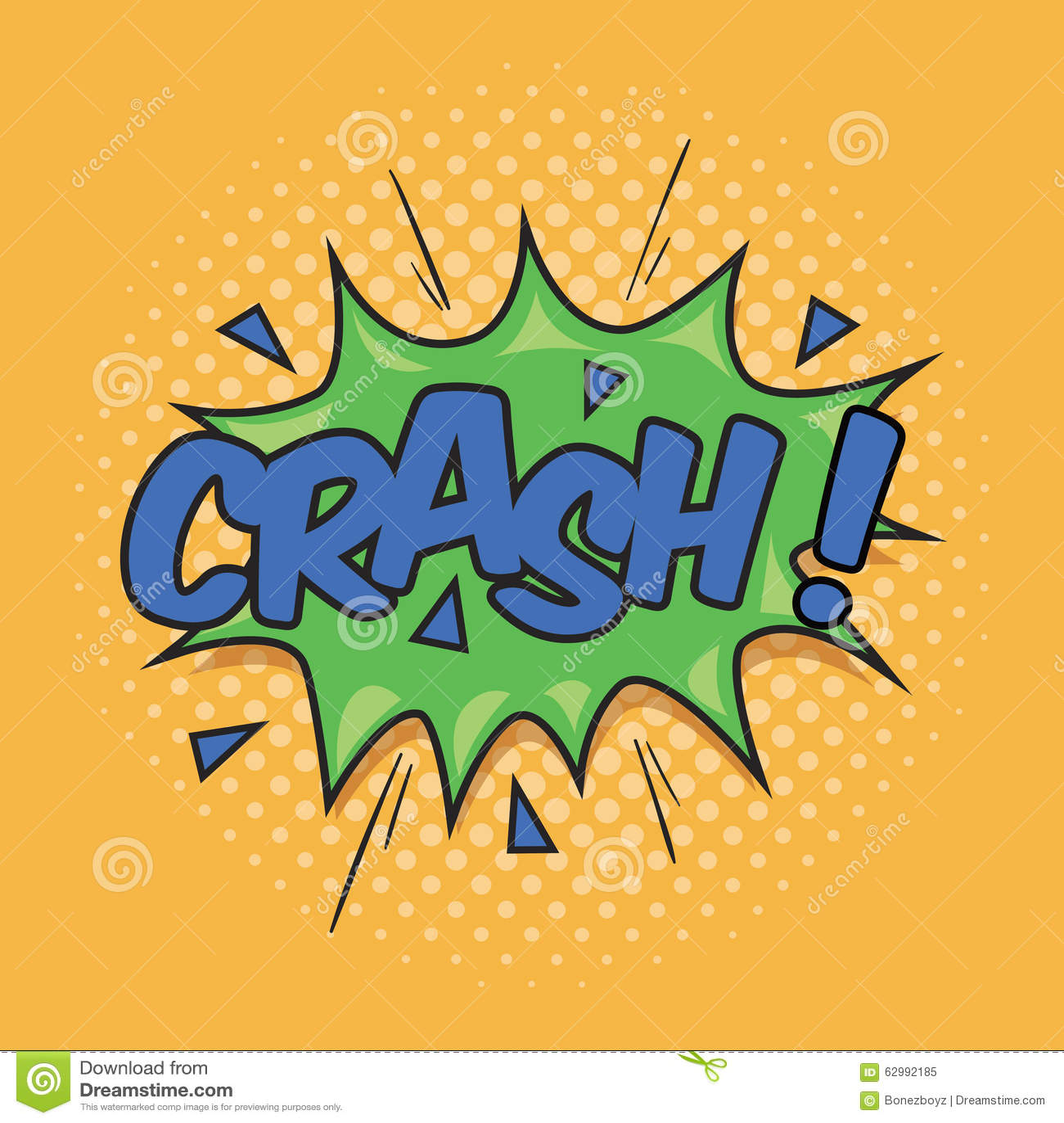 crash  wording sound effect stock vector