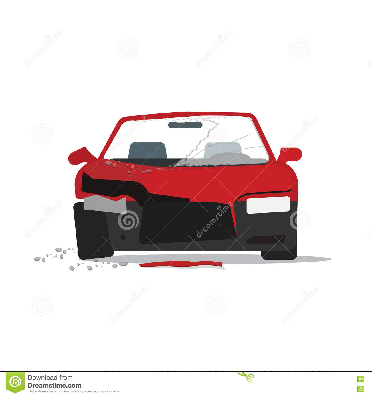 Home Design 3d Keeps Crashing: Car Accident Isolated Icon Design Stock Illustration