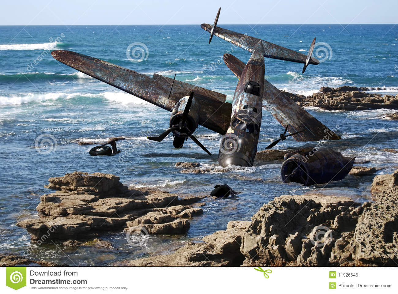 Crashed Plane Royalty Free Stock Photo - Image: 11926645