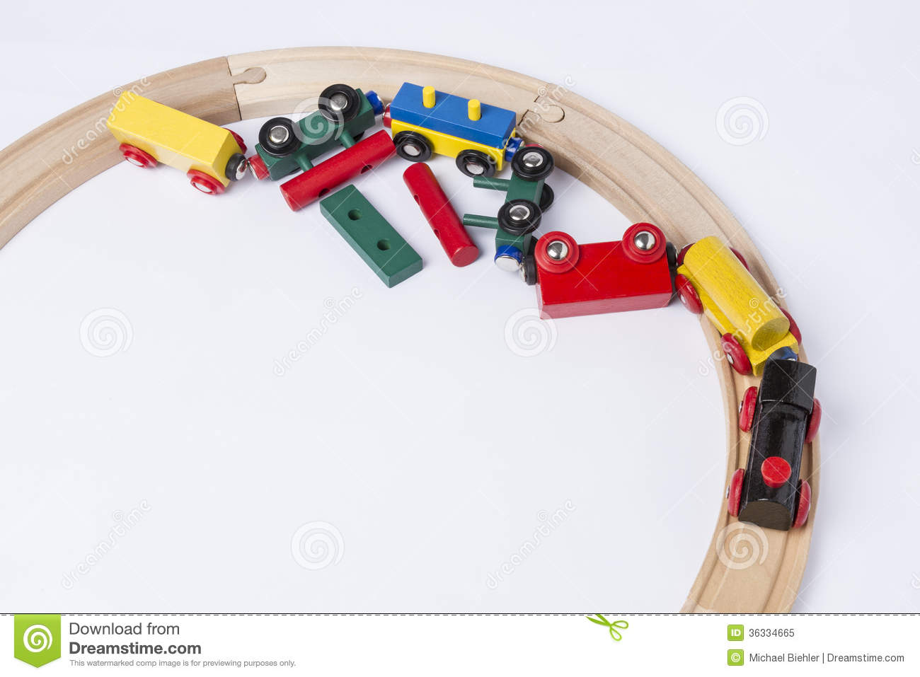 Crashed Wooden Toy Train Royalty Free Stock Photo - Image ...