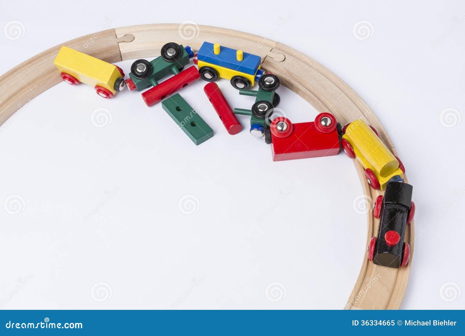 Crashed Wooden Toy Train Royalty Free Stock Photo - Image: 36334665