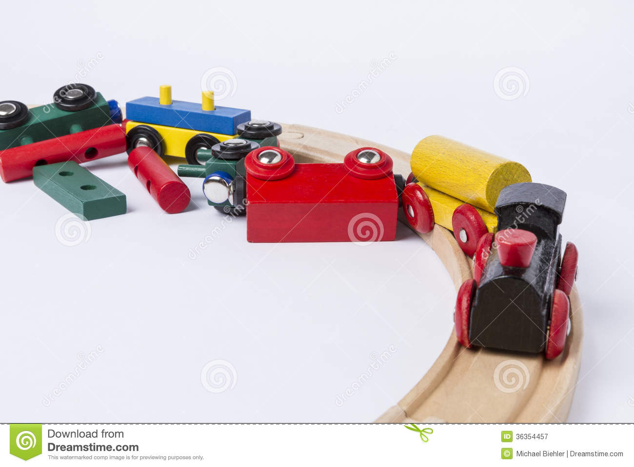Crashed Wooden Toy Train Royalty Free Stock Photography - Image ...