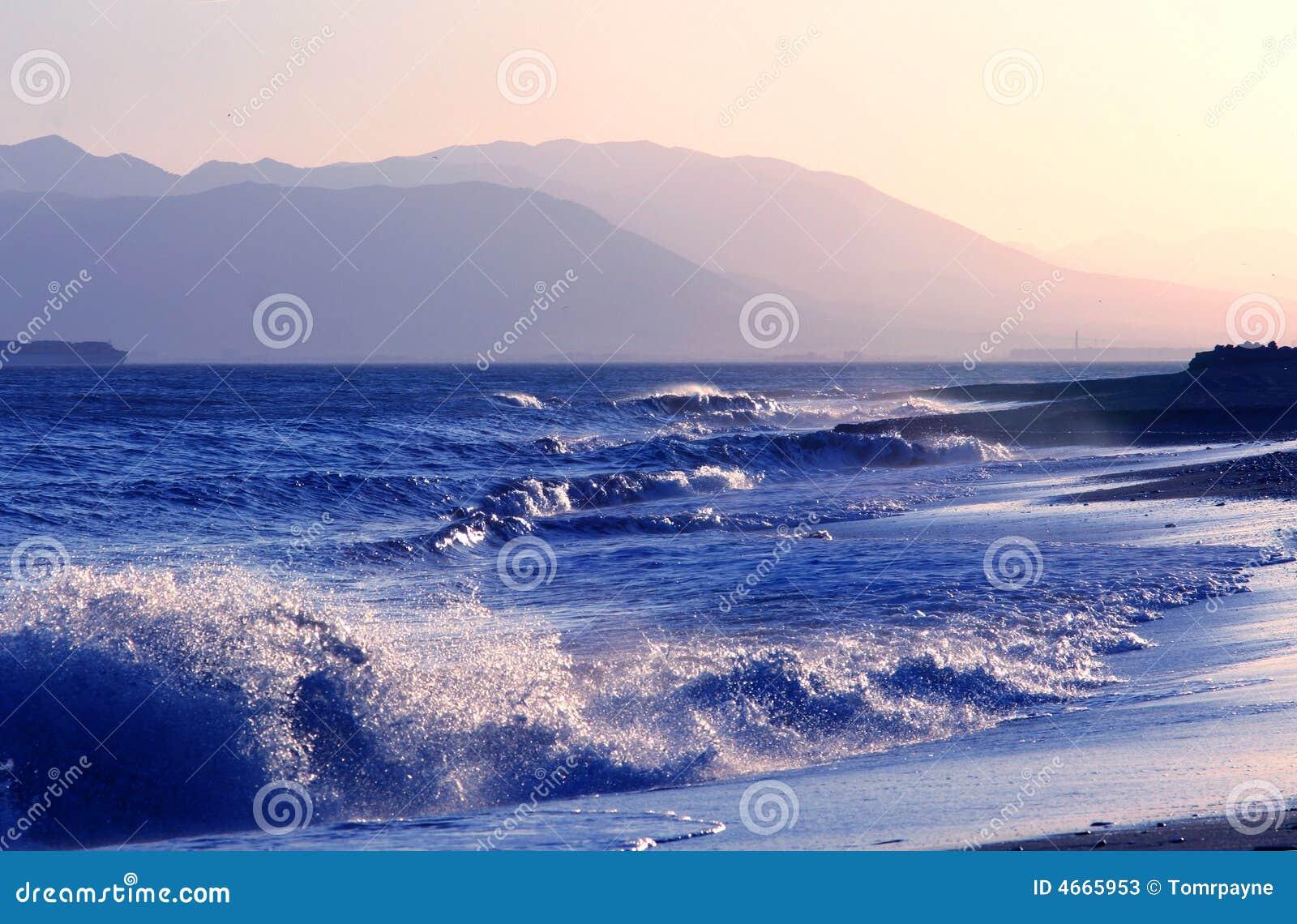 Crashing Waves on Andalusian Coast