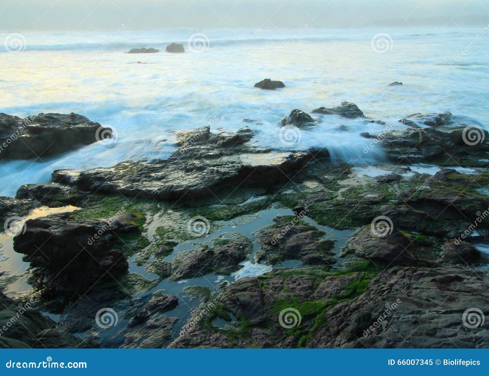 Download Crashing Waves Near Big Sur, California, USA Stock Image - Image of dusk, focus: 66007345