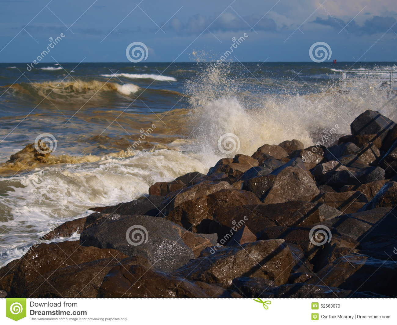 crashing waves stock photo