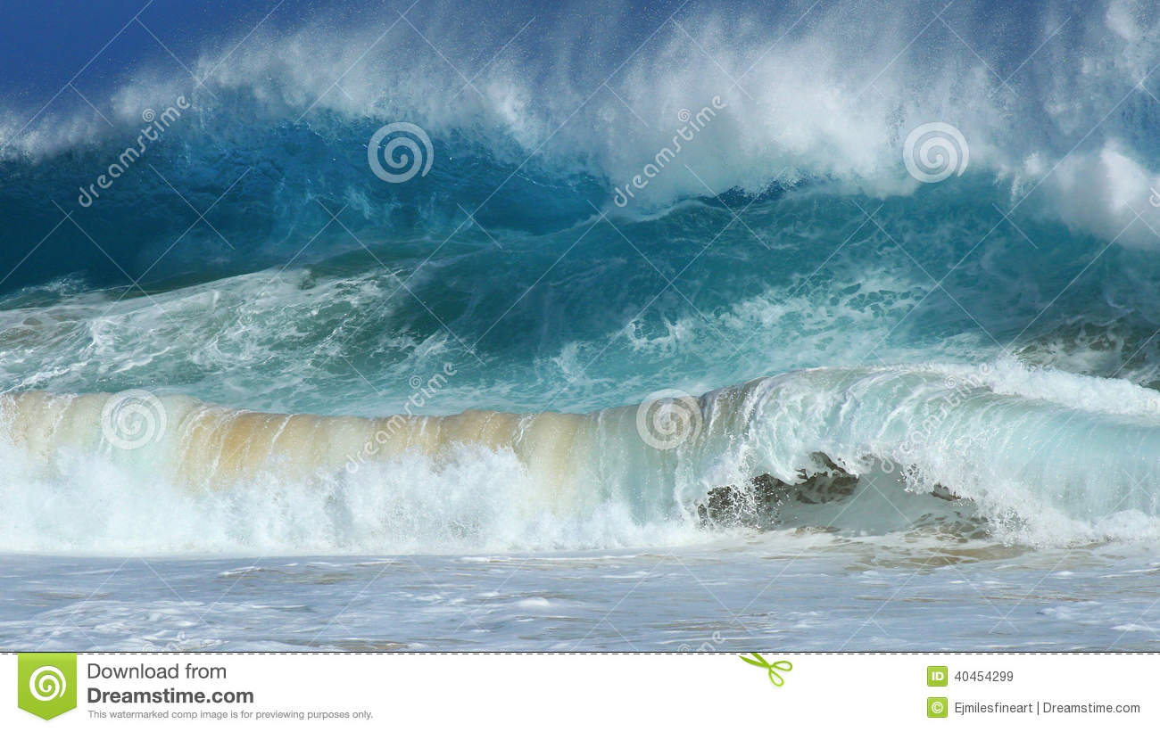 Download Crashing Waves, Sandy Beach, Hawaii Stock Image - Image of beautiful, closeout: 40454299