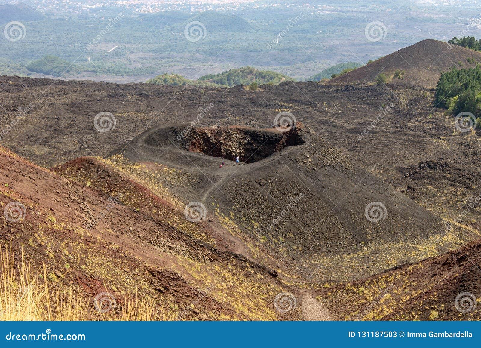 Cratères de l Etna en Sicile