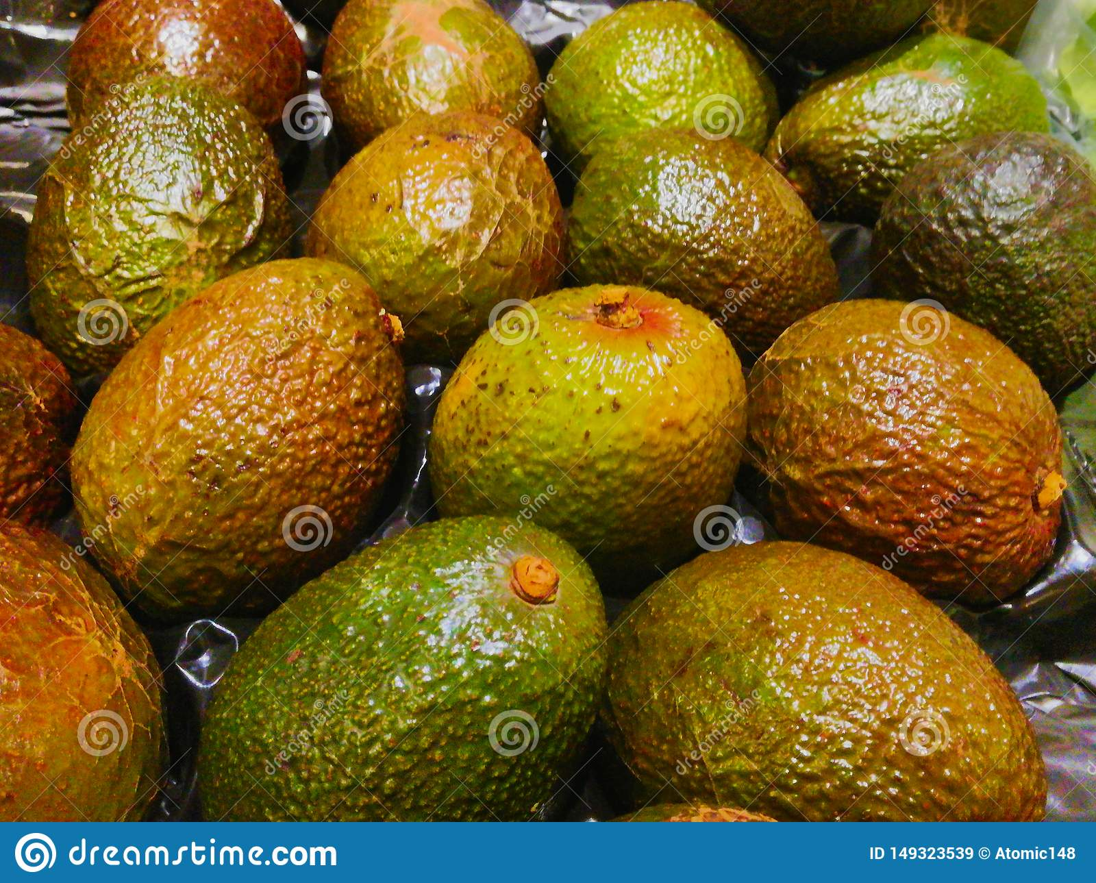 Avocado`s just filled in the supermarket