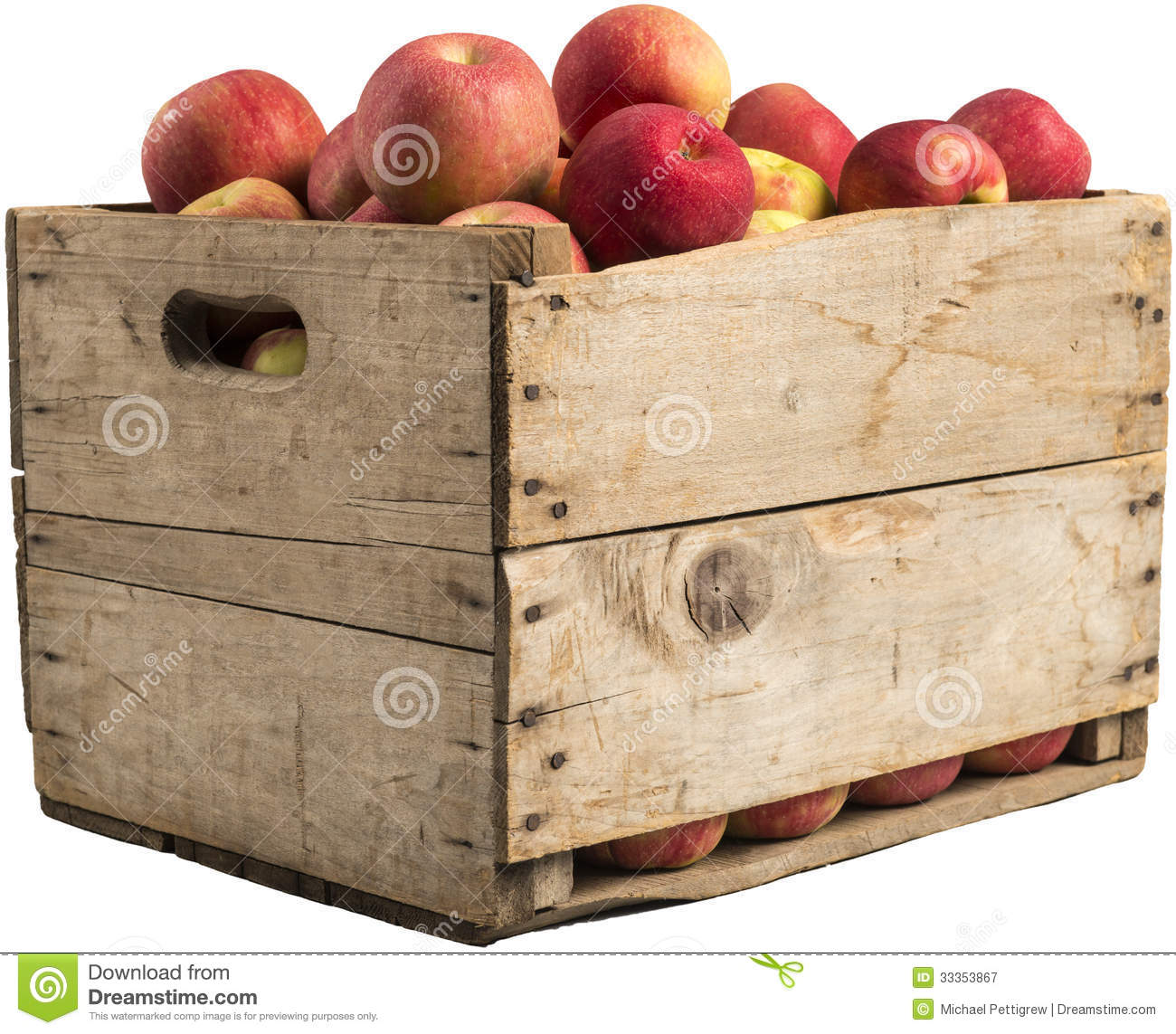 Crate full of apples stock image image of produce rustic for How to make apple crates