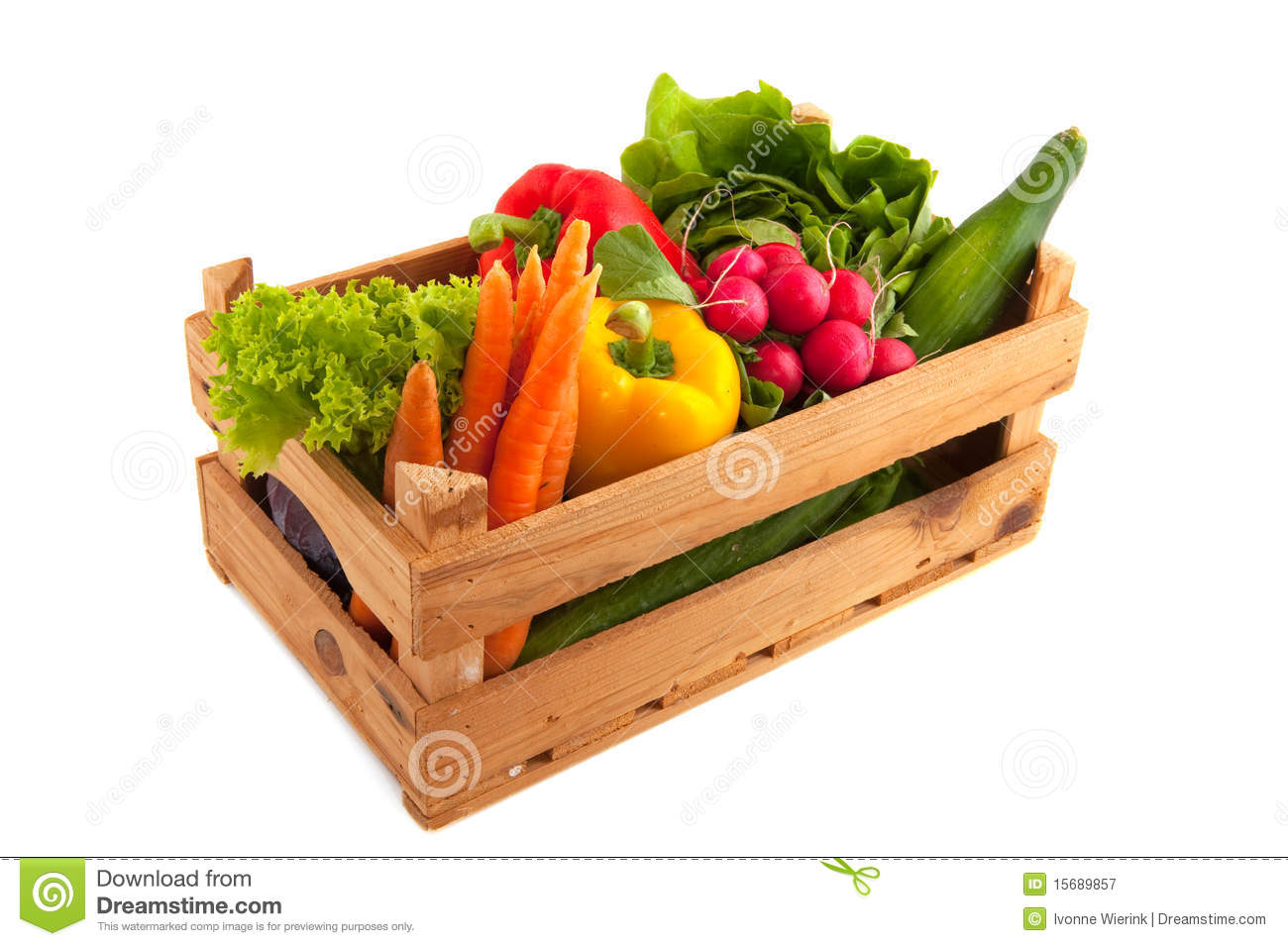 Crate Vegetables Royalty Free Stock Photography Image