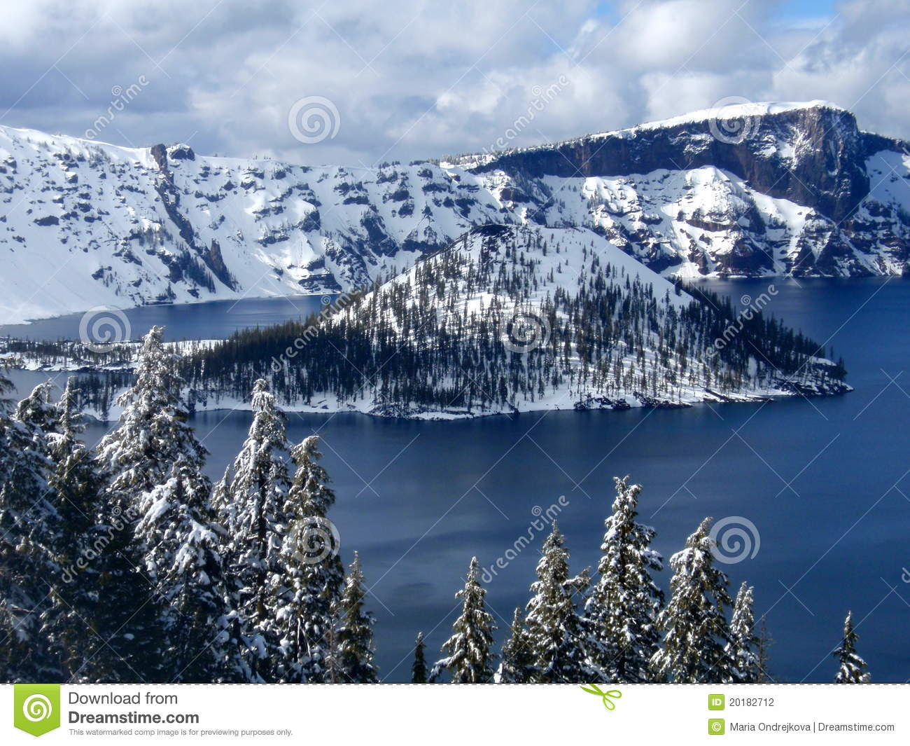 Crater Lake Stock Photography Image 20182712