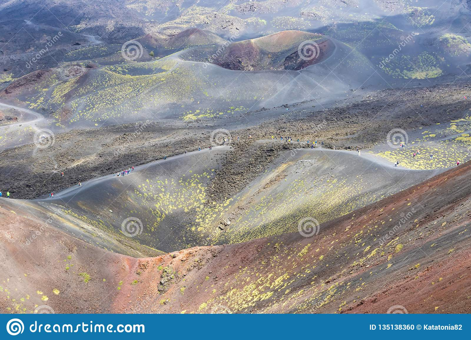 Crater Silvestri Superiori on Mount Etna, Sicily, Italy