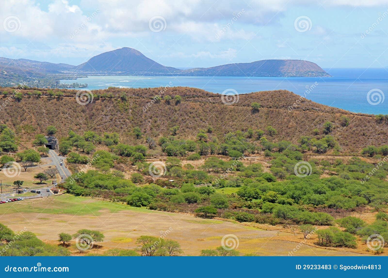 Download Cratera De Diamondhead Com Cabeça De Koko Na Distância Imagem de Stock - Imagem de honolulu, negligencie: 29233483