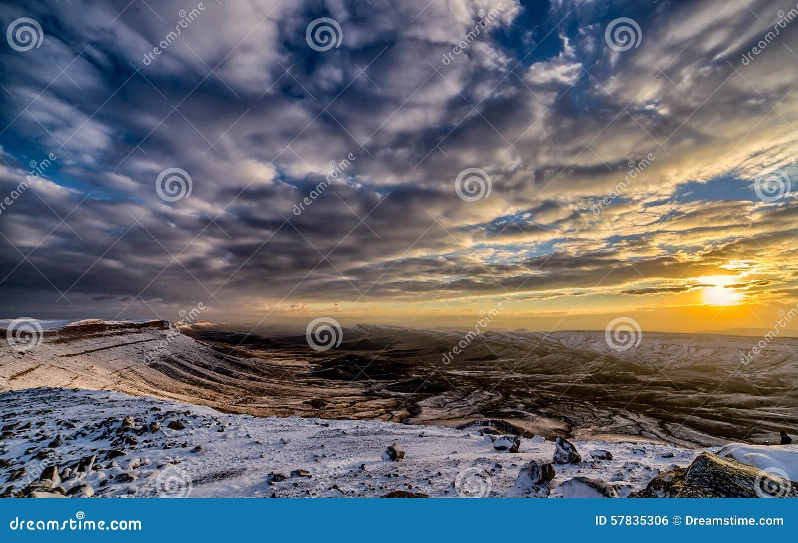 Cratere di Ramon a sotto zero