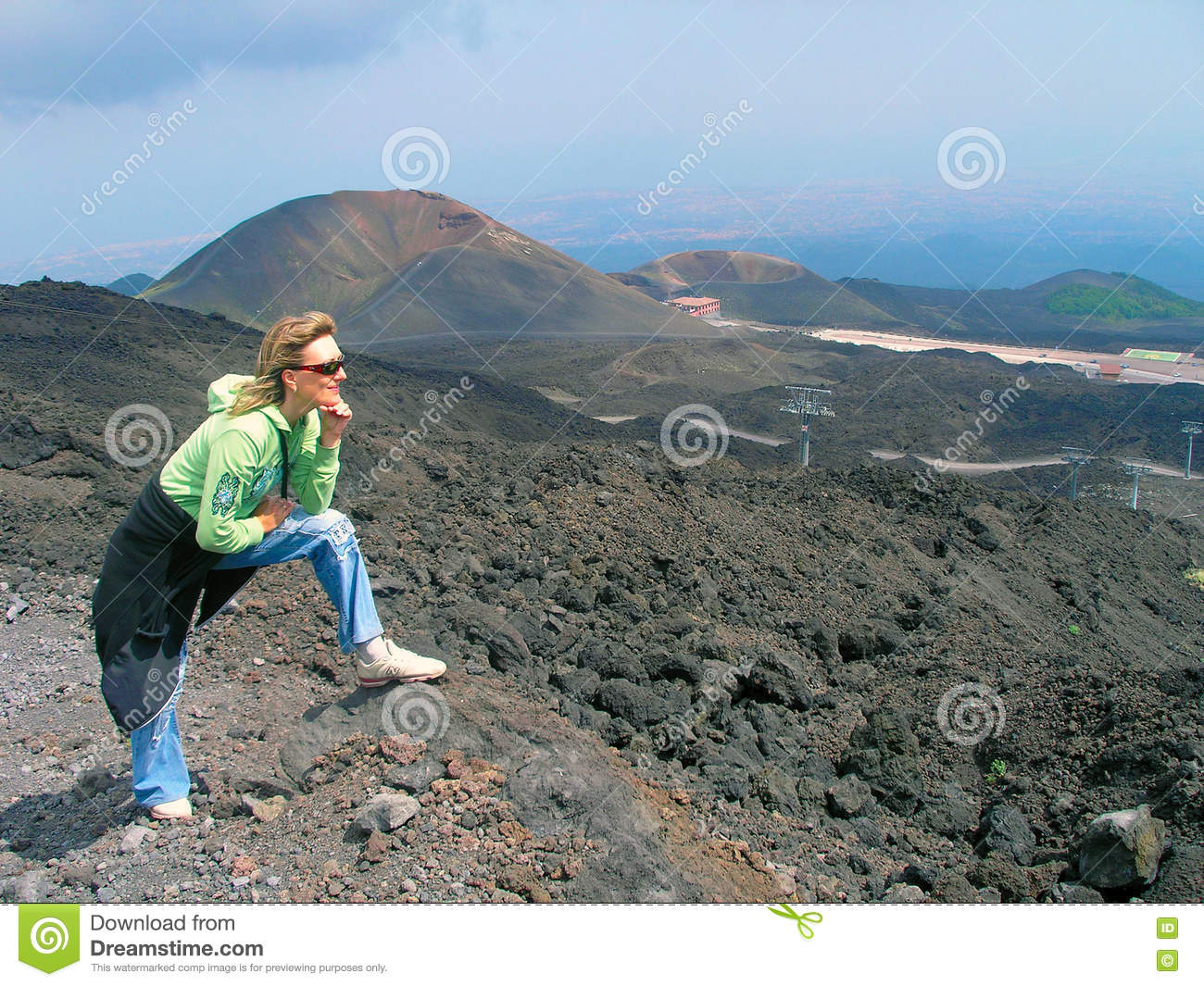 Among the craters of Etna.