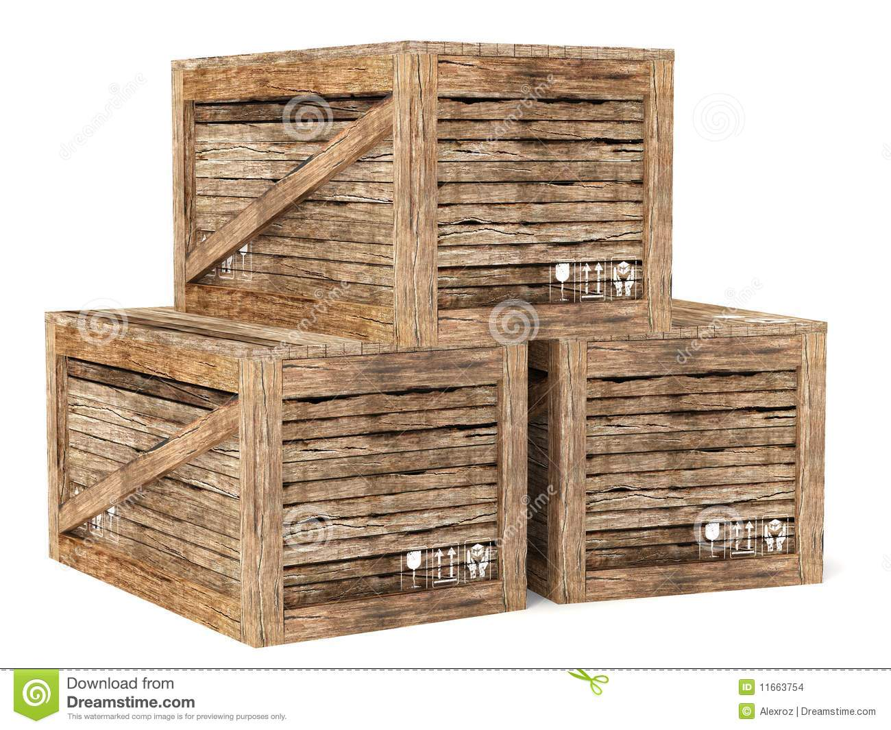 Crates stock images image 11663754 for Wooden chicken crate plans