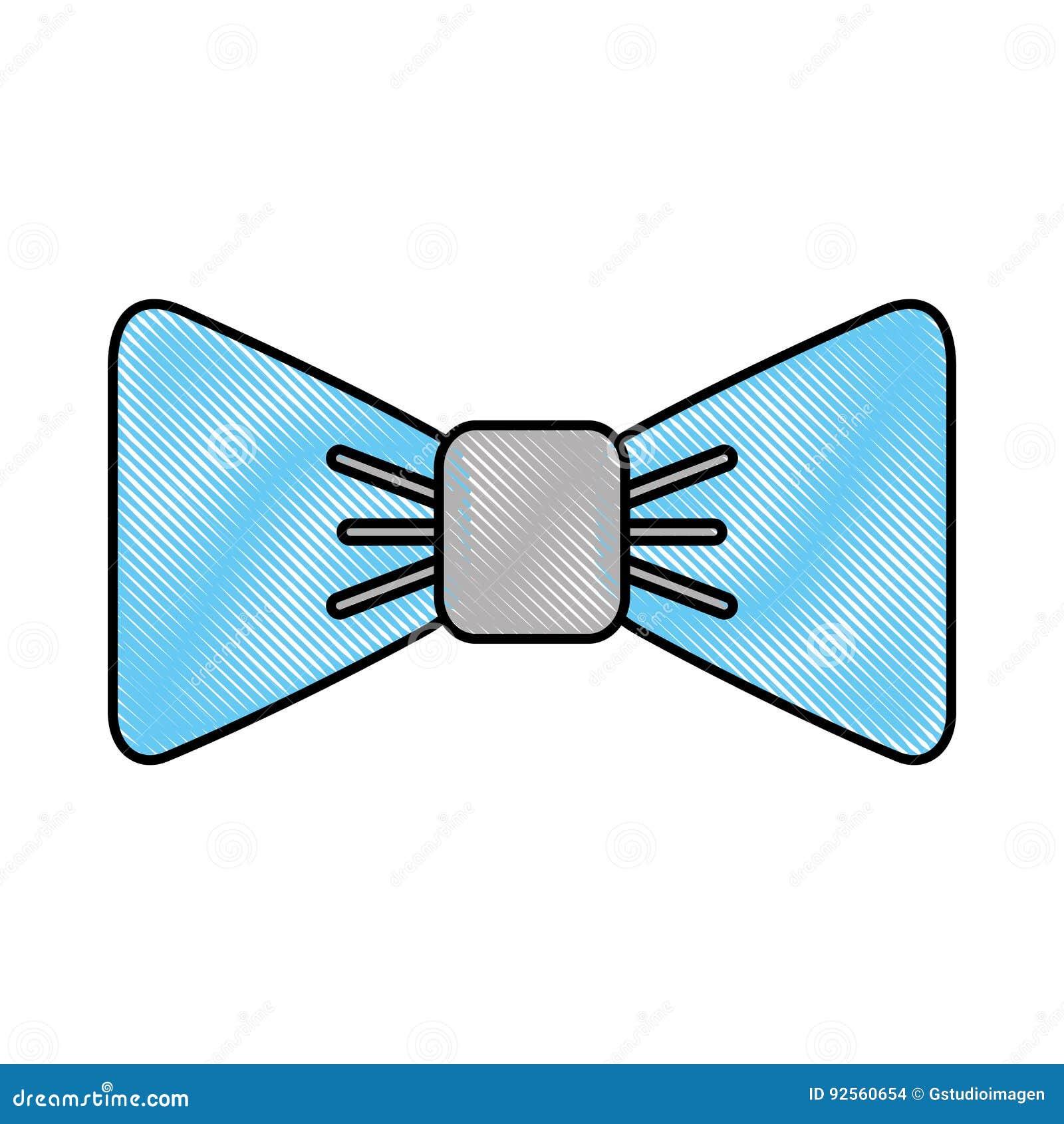 Cravatta a farfalla operata isolata