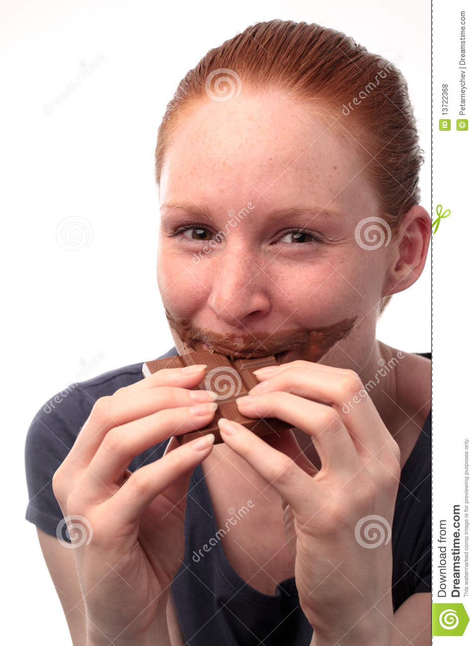 Craving For Chocolate Royalty Free Stock Photos - Image: 13722368