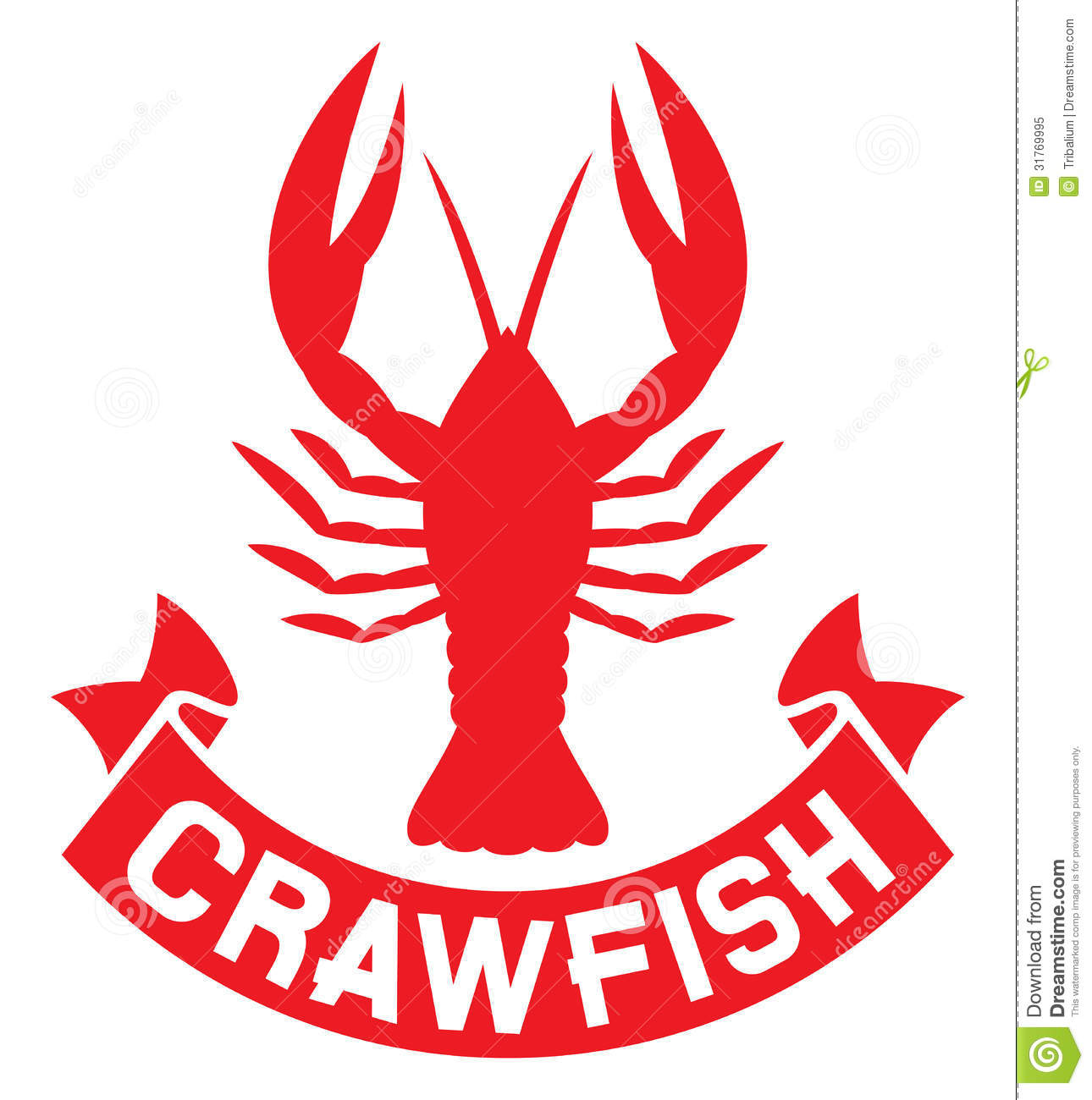 Crawfish label stock image. Image of dinner, delicacy - 31769995