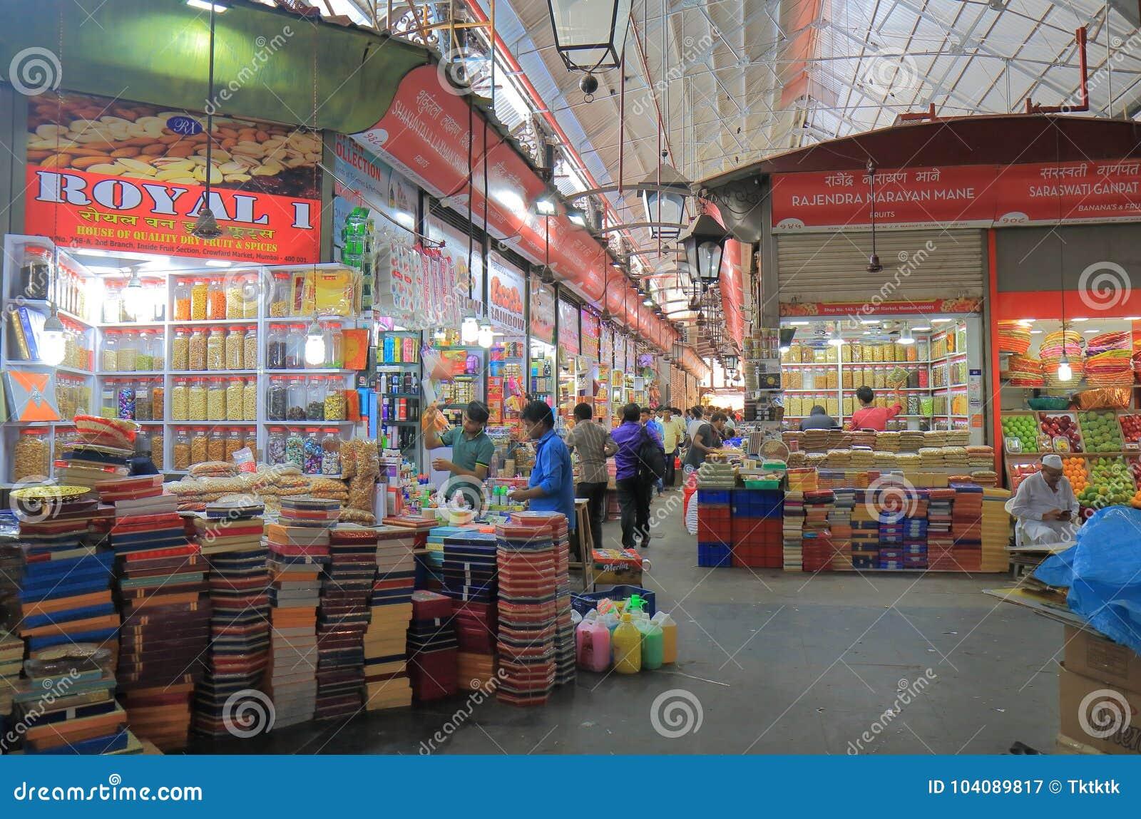 Crawfordmarkt het winkelen Mumbai India